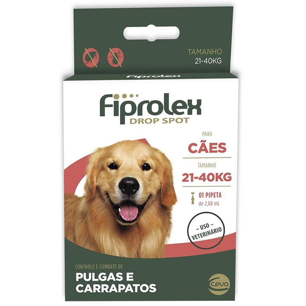 Antiparasitário Fiprolex Drop Spot Cães 21 a 40kg  - Brasília Pet