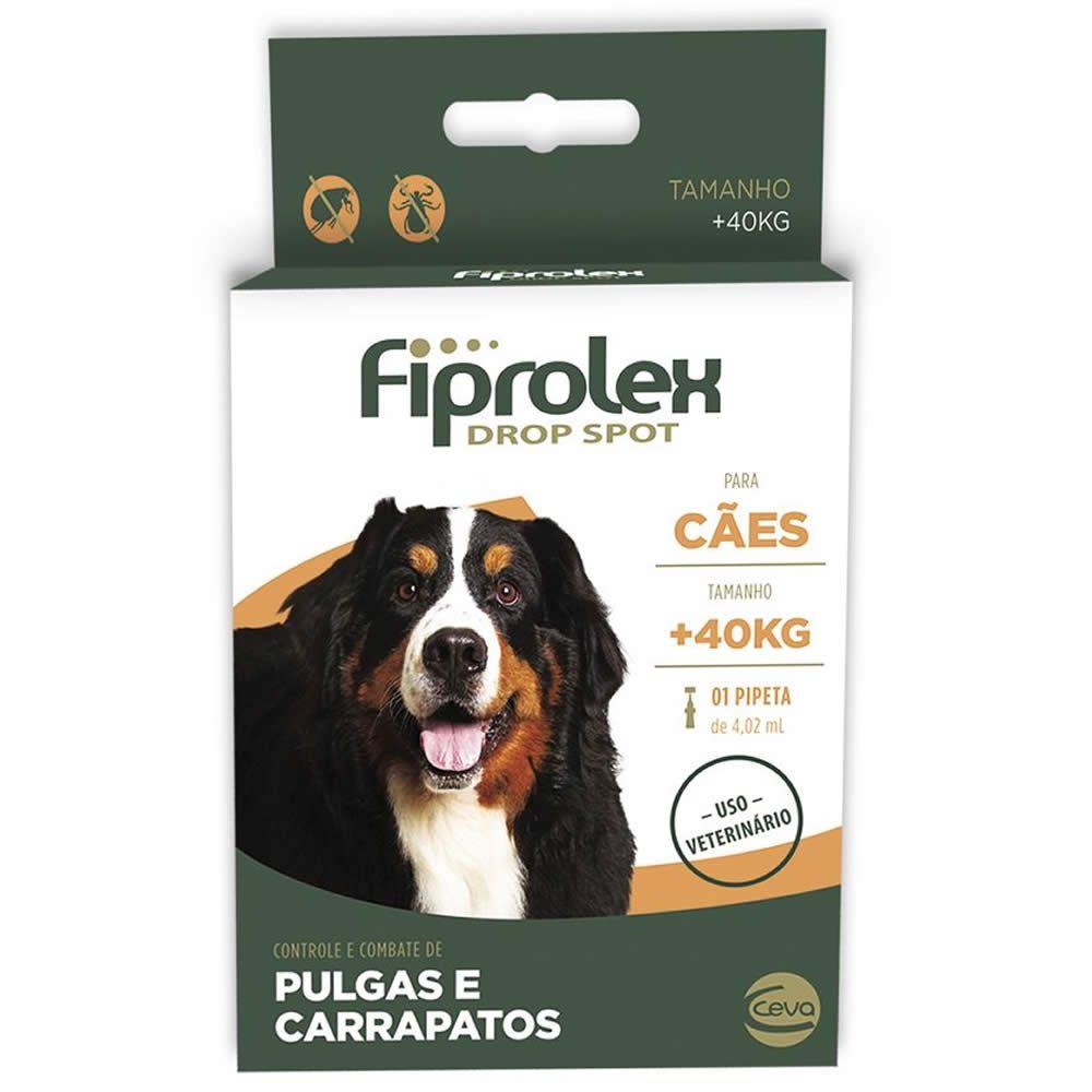 Antiparasitário Fiprolex Drop Spot Cães acima de 40kg  - Brasília Pet