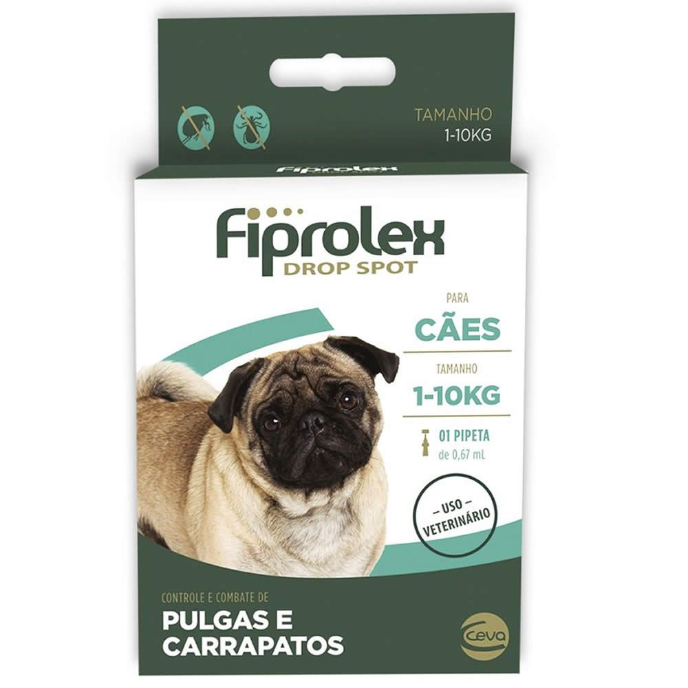 Antiparasitário Fiprolex Drop Spot Cães até 10kg  - Brasília Pet