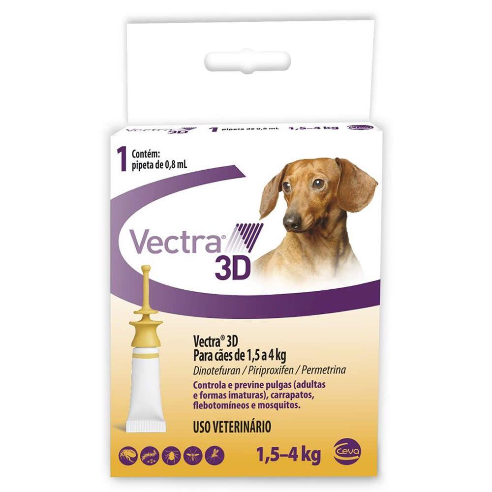 Antiparasitário Vectra 3D Cães 1.5 a 4kg  - Brasília Pet