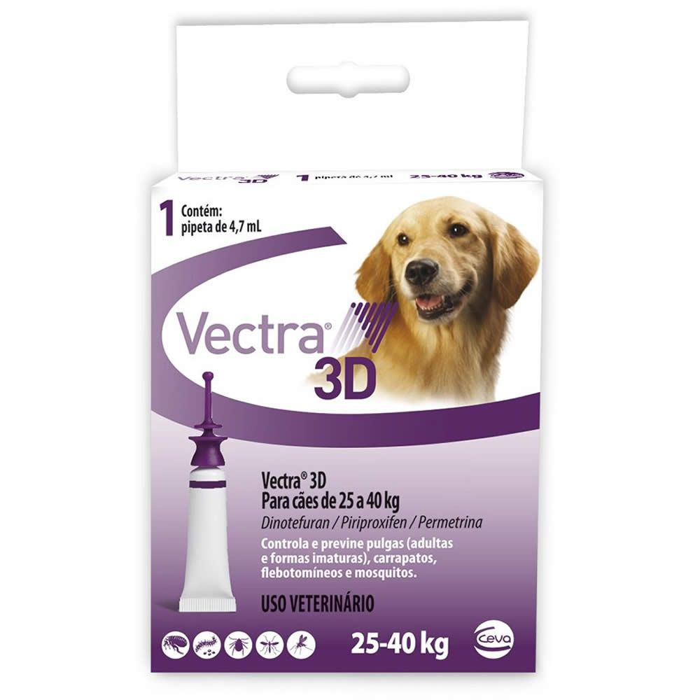 Antiparasitário Vectra 3D Cães 25 a 40kg  - Brasília Pet