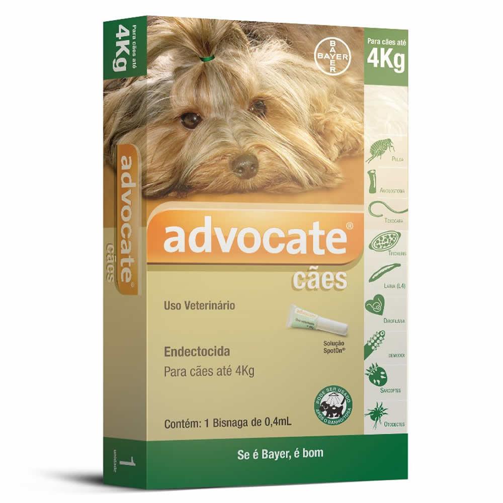 Antipulgas Advocate Cães até 4kg  - Brasília Pet