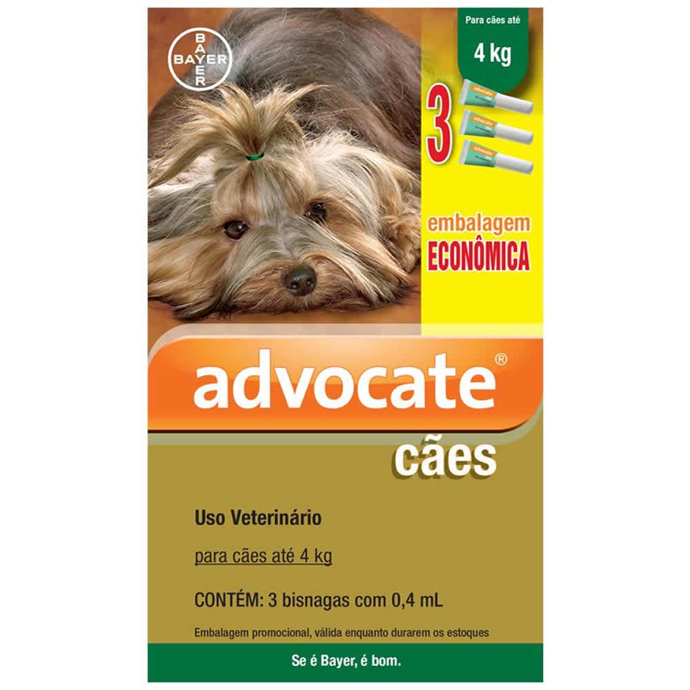 Antipulgas Advocate Cães até 4kg Combo 3Un  - Brasília Pet
