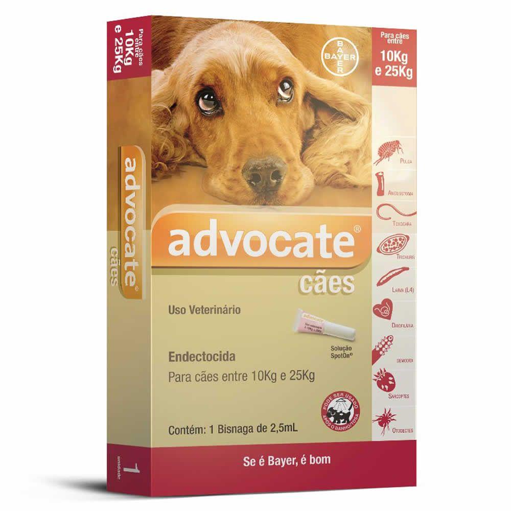 Antipulgas Advocate Cães de 10 a 25kg  - Brasília Pet