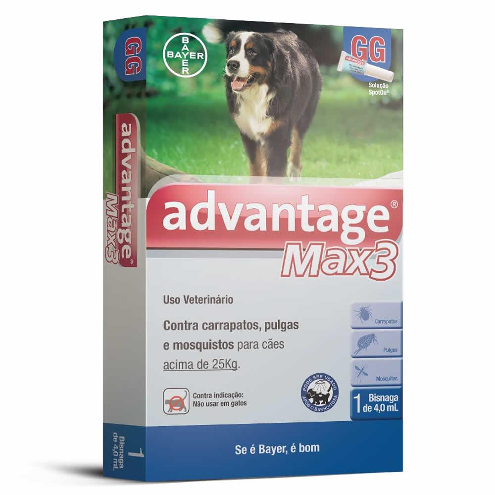 Antipulgas e Carrapatos Advantage Max3 acima de 25kg  - Brasília Pet