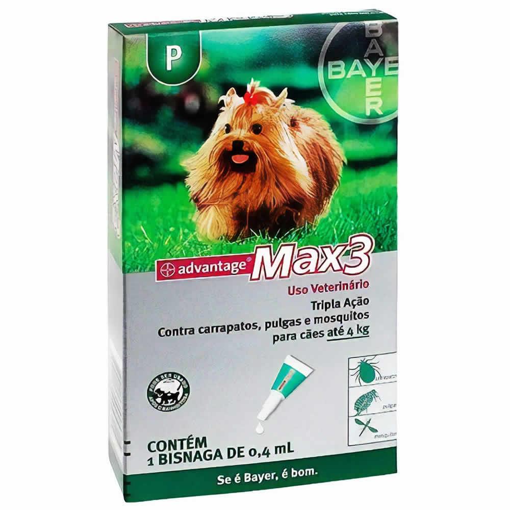 Antipulgas e Carrapatos Advantage Max3 até 4kg  - Brasília Pet