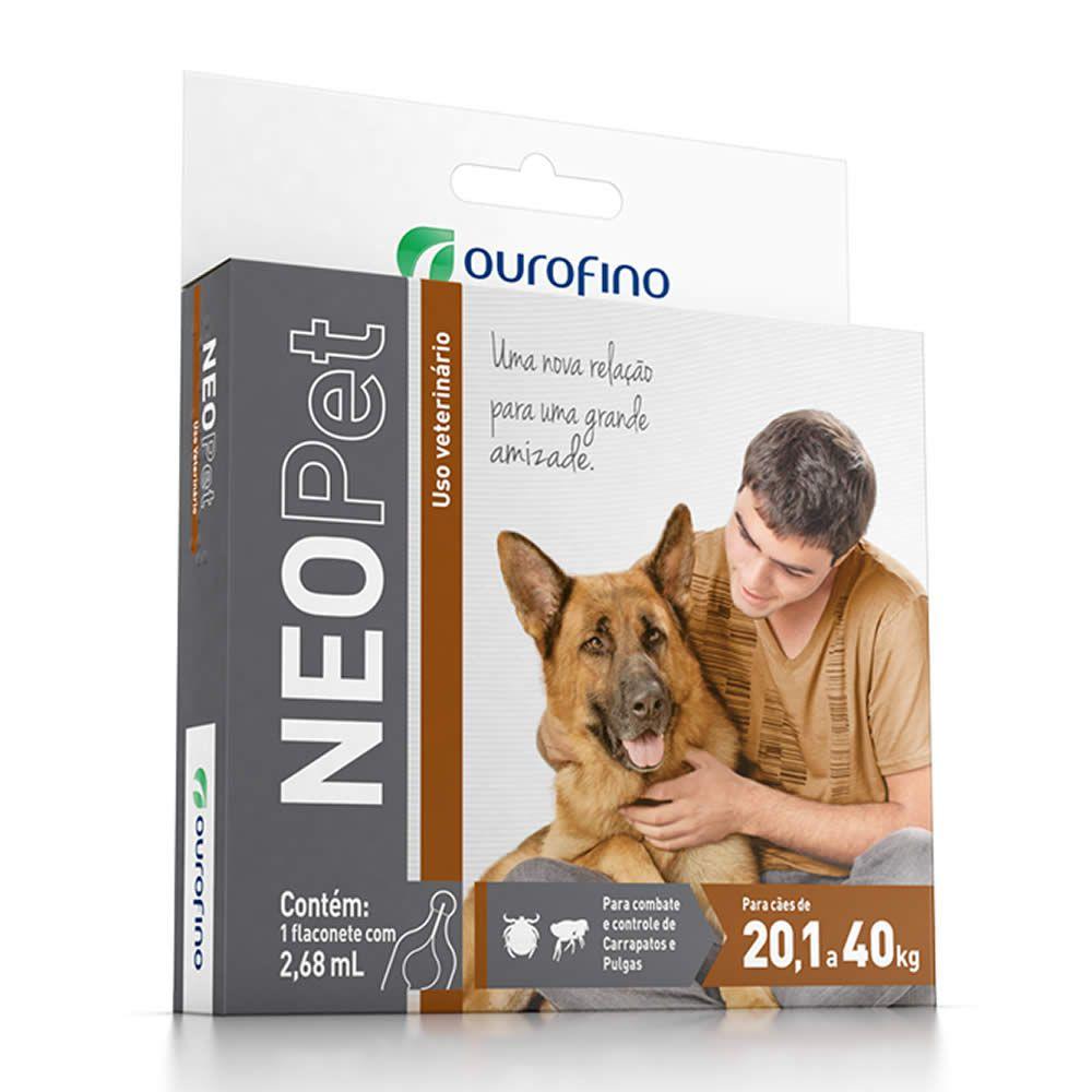 Antipulgas e Carrapatos NeoPet Ouro Fino 20,1 a 40kg  - Brasília Pet