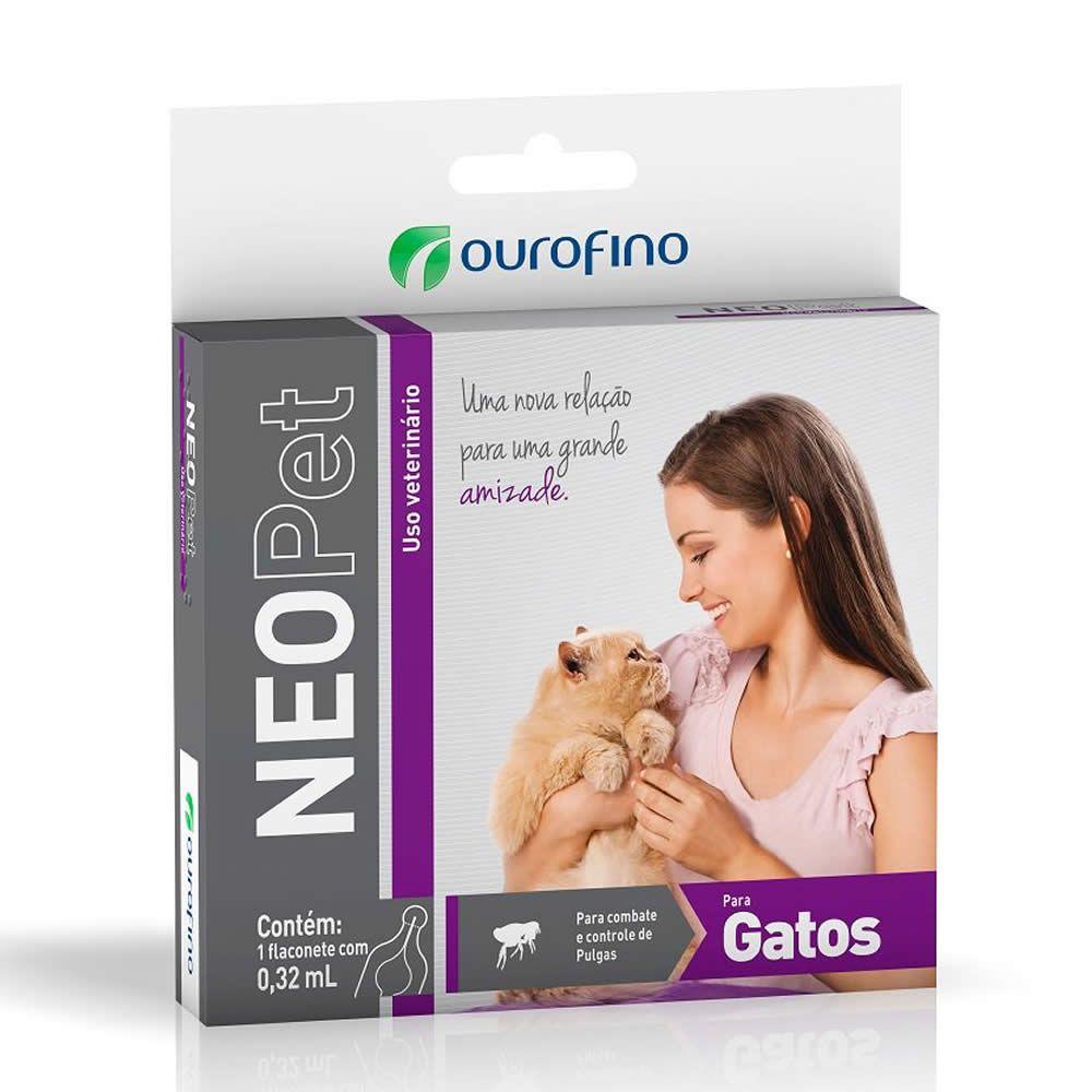 Antipulgas e Carrapatos NeoPet Ouro Fino Gatos até 8kg  - Brasília Pet
