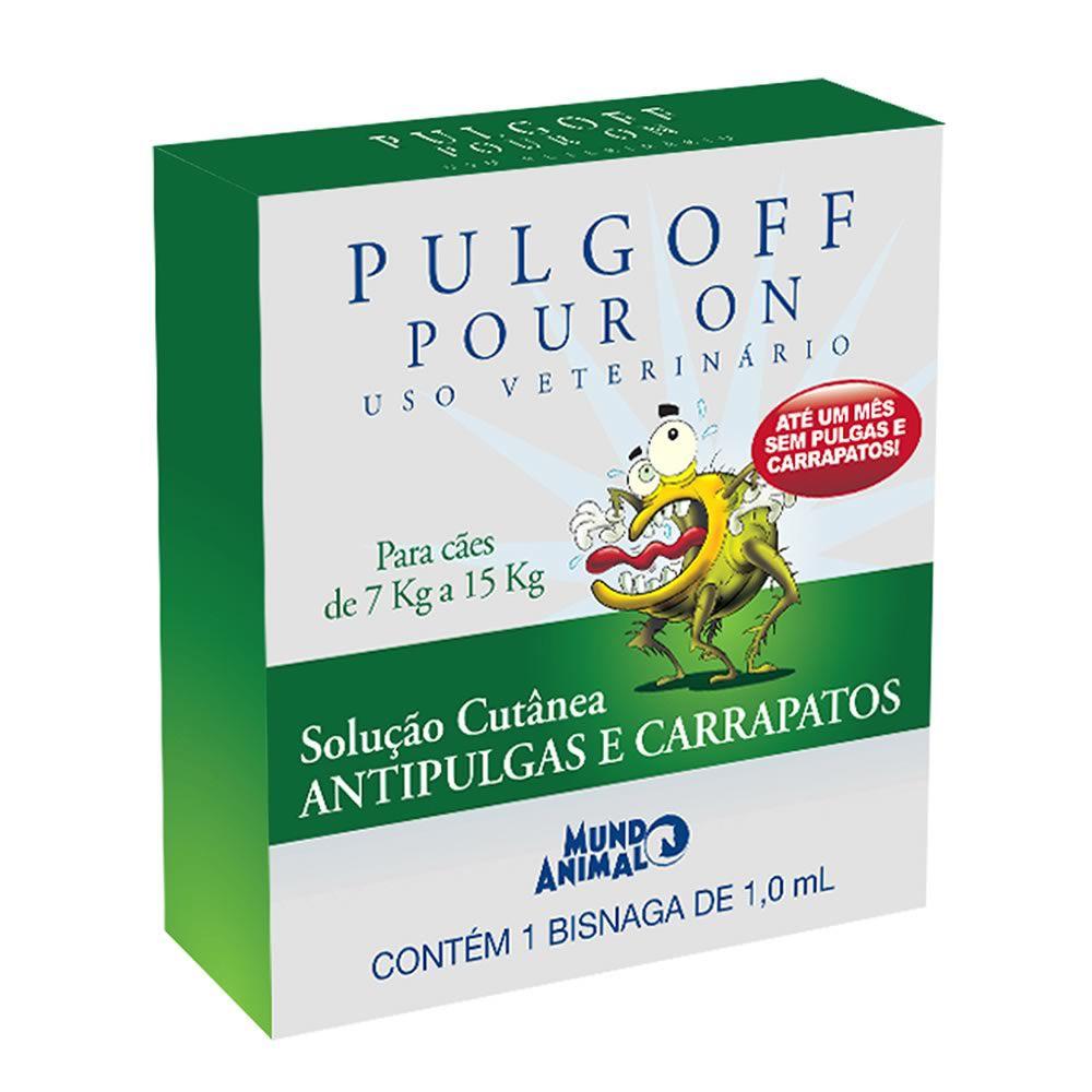 Antipulgas Pulgoff Pour On até 7 a 15kg  - Brasília Pet