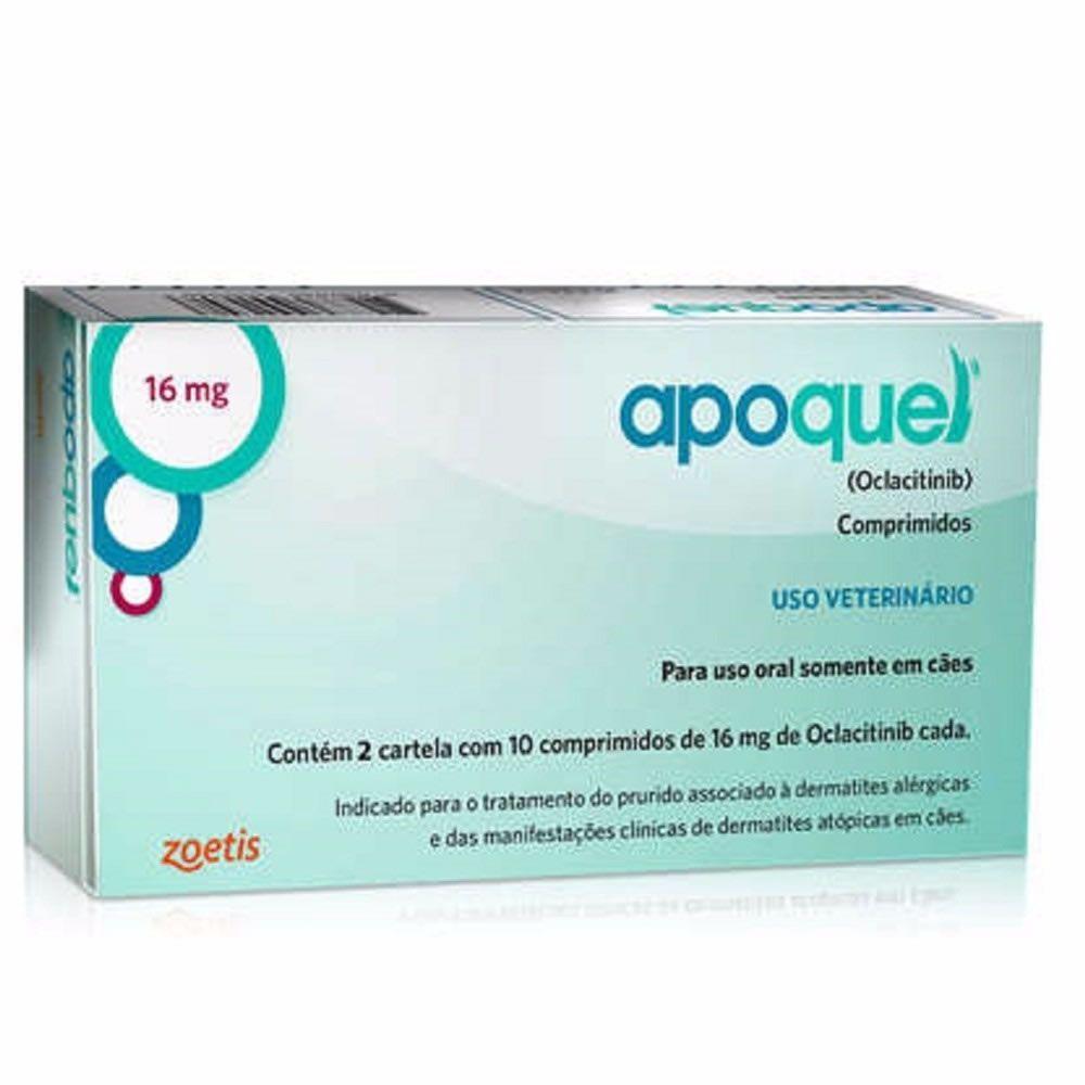 Apoquel Dermatólogico Zoetis 16mg 20 Comprimidos  - Brasília Pet