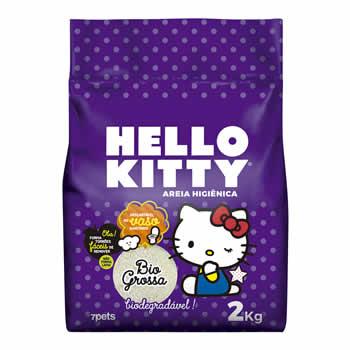Areia Higiênica Biodegradável Hello Kitty Grossa 2kg  - Brasília Pet