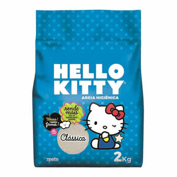 Areia Higiênica Hello Kitty Classica 2kg  - Brasília Pet