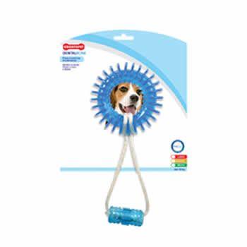Argola Espacial Corda Dental Bone Cães Mordida Moderada até 15Kg  - Brasília Pet