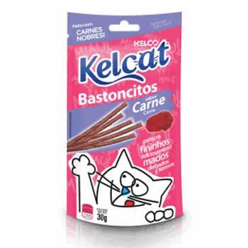 Bastoncitos Kelcat Carne 30G  - Brasília Pet