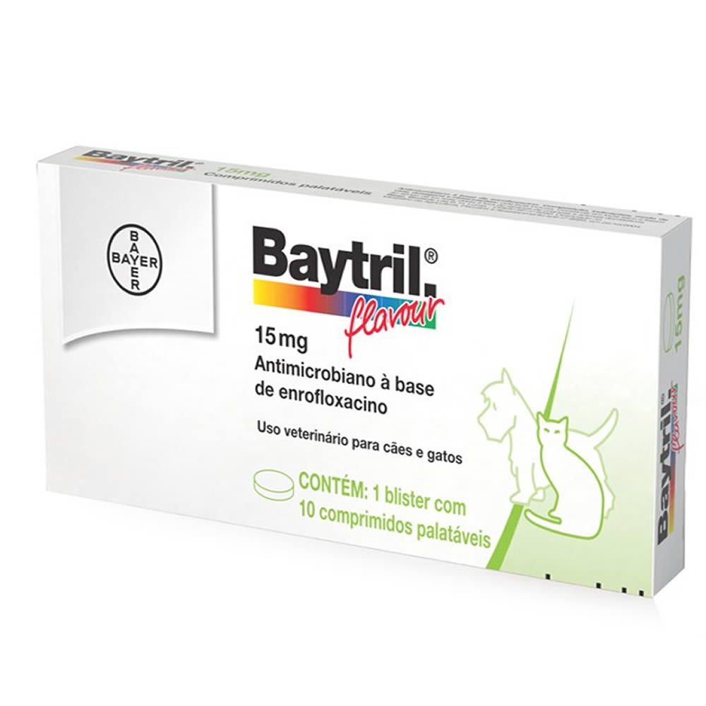 Baytril Flavour Cães e Gatos 15mg  - Brasília Pet