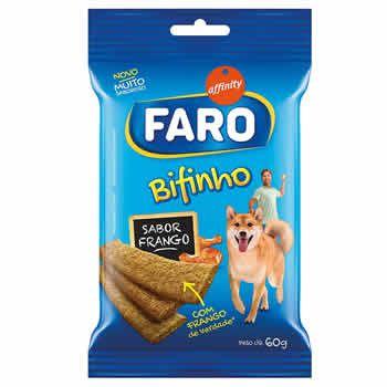 Bifinhos Faro Frango 60g   - Brasília Pet