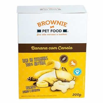 Biscoito Natural Brownie Banana com Canela 200g  - Brasília Pet