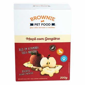 Biscoito Natural Brownie Maçã com Gengibre 200g  - Brasília Pet