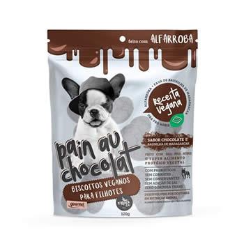 Biscoito Vegano Chocolate Pain Au Chocolat Cães 120g  - Brasília Pet
