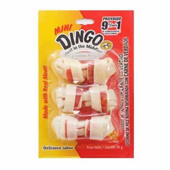Bone Premium Dingo Mini 3 Unidades  - Brasília Pet