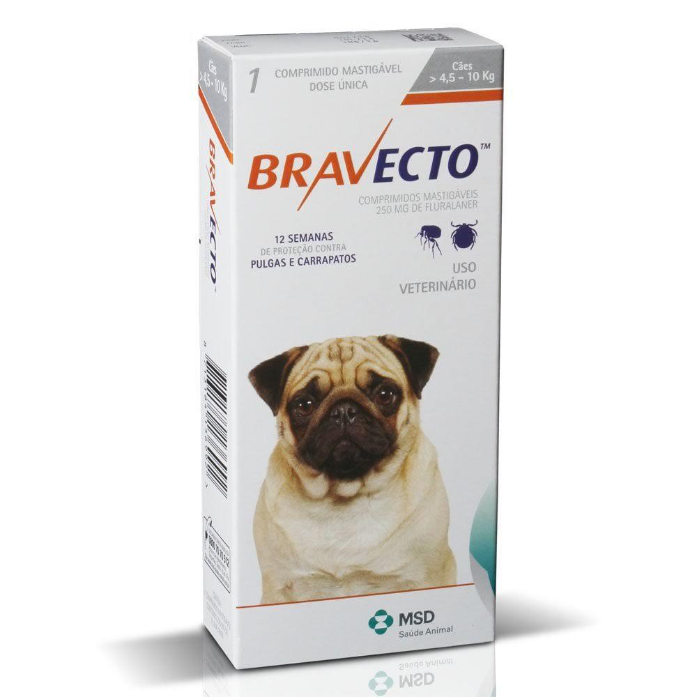 Bravecto Comprimidos 4,5 a 10kg  - Brasília Pet