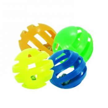 Brinquedo Gatos Bolinha de Plástico com Guizo 4 unidades  - Brasília Pet