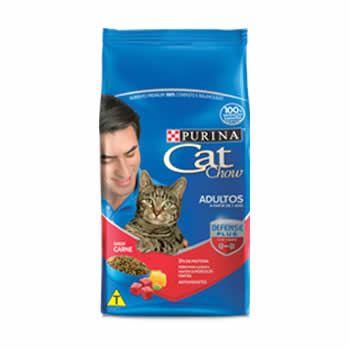 Cat Chow Adultos Carne  - Brasília Pet