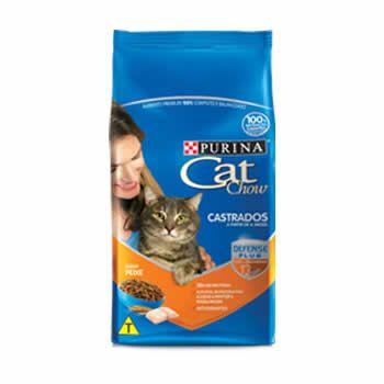 Cat Chow Castrados Frango  - Brasília Pet