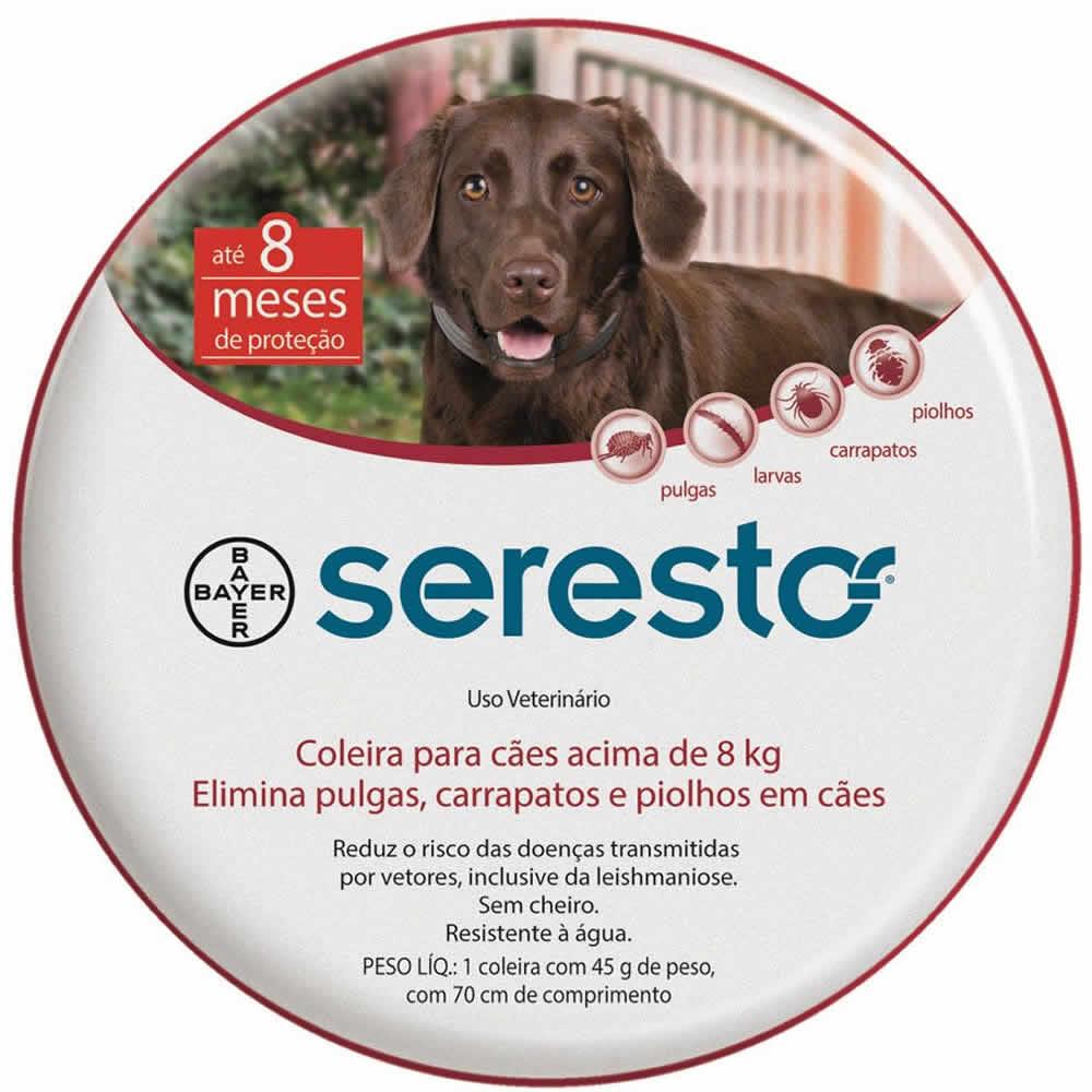 Coleira Antipulgas e Carrapatos Seresto acima 8kg  - Brasília Pet
