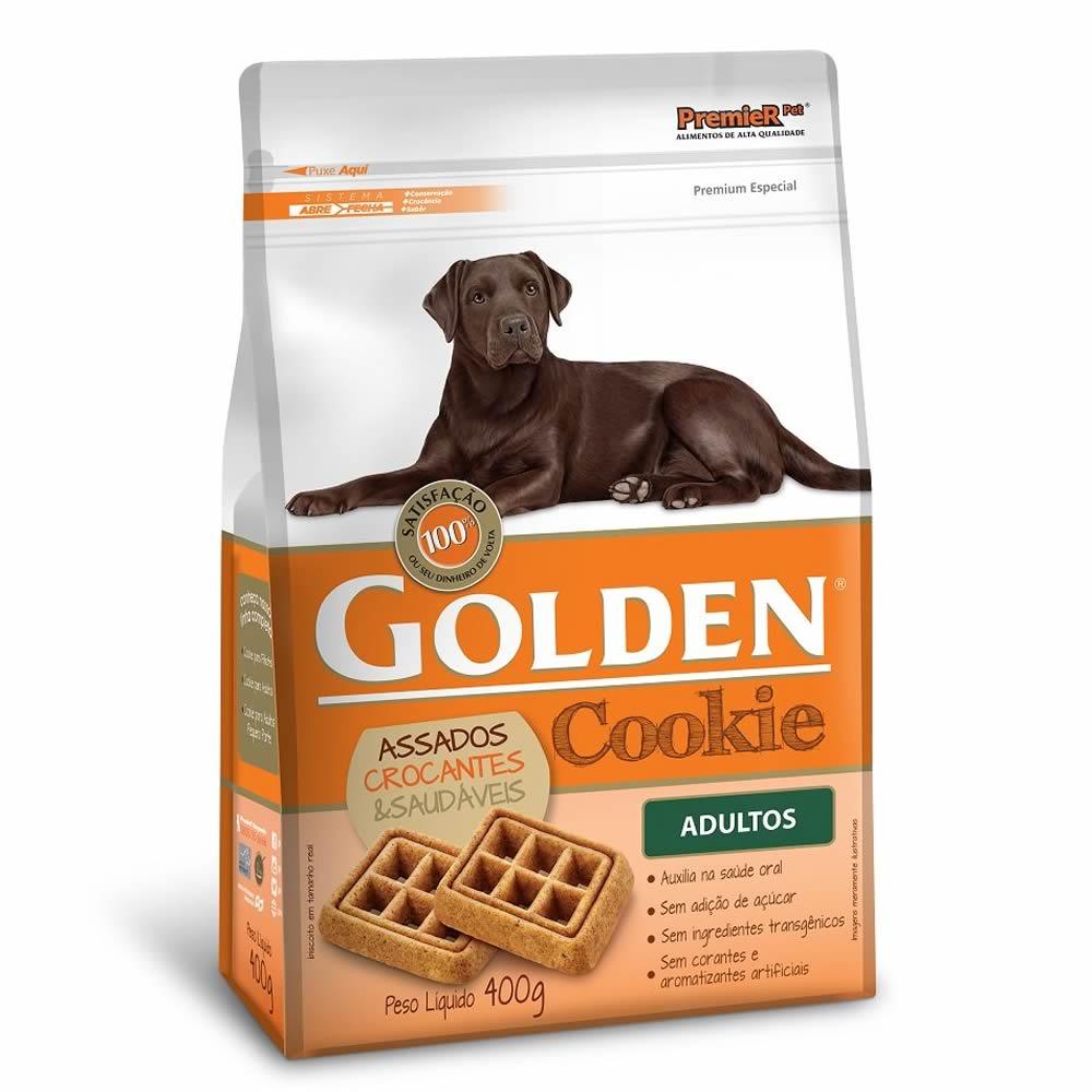 Cookie Golden Adultos 400G  - Brasília Pet