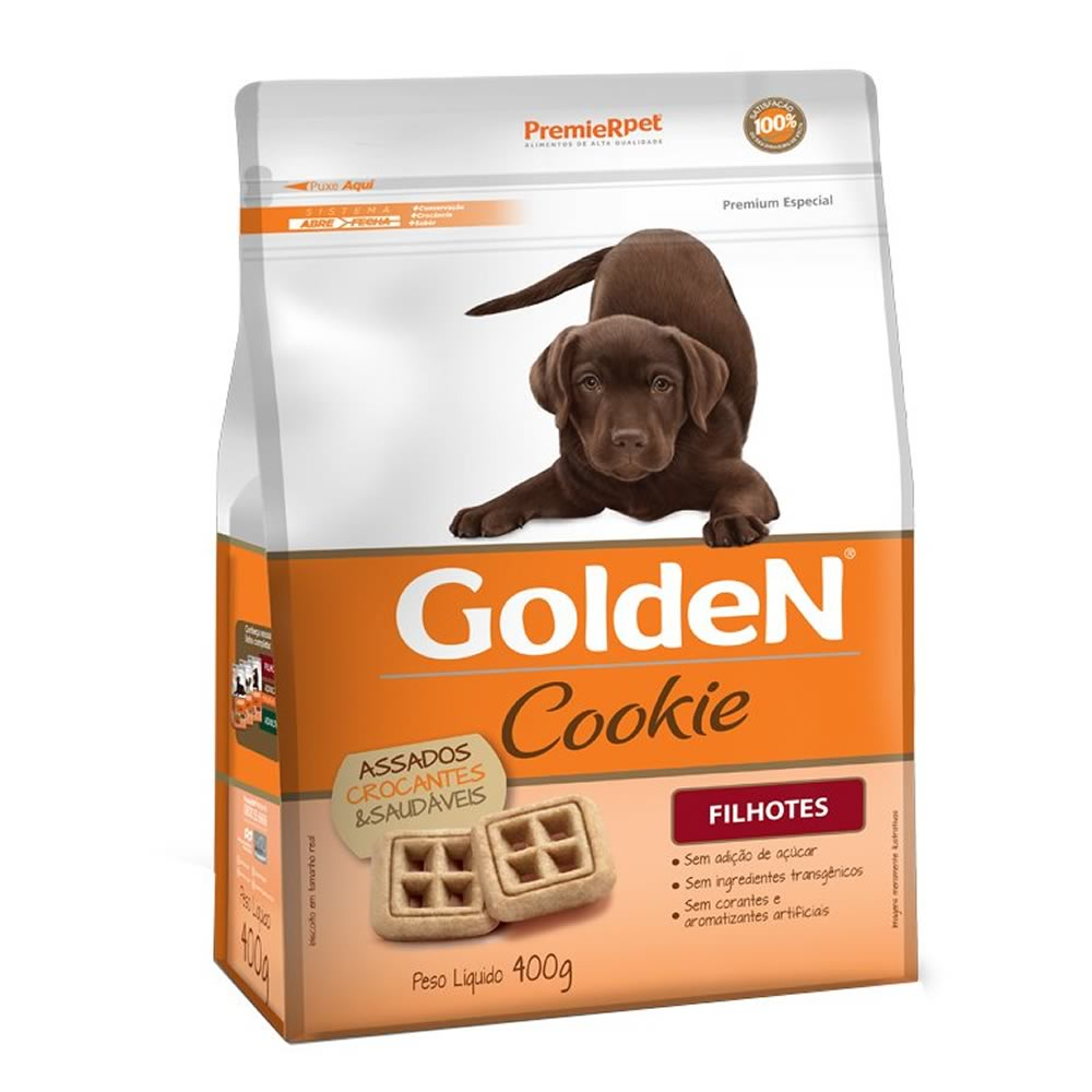 Cookie Golden Filhotes 400G  - Brasília Pet