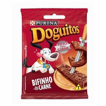 Doguitos Bifinho Carne 65g  - Brasília Pet