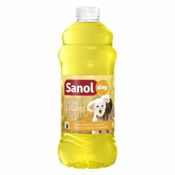 Eliminador de Odores Sanol Citronela 2L  - Brasília Pet