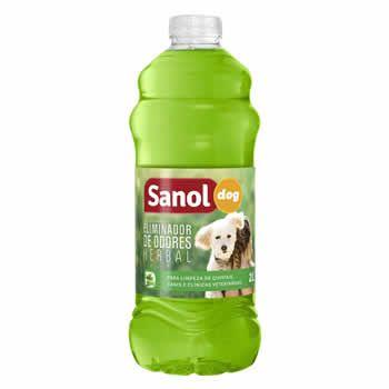 Eliminador de Odores Sanol Herbal 2L  - Brasília Pet