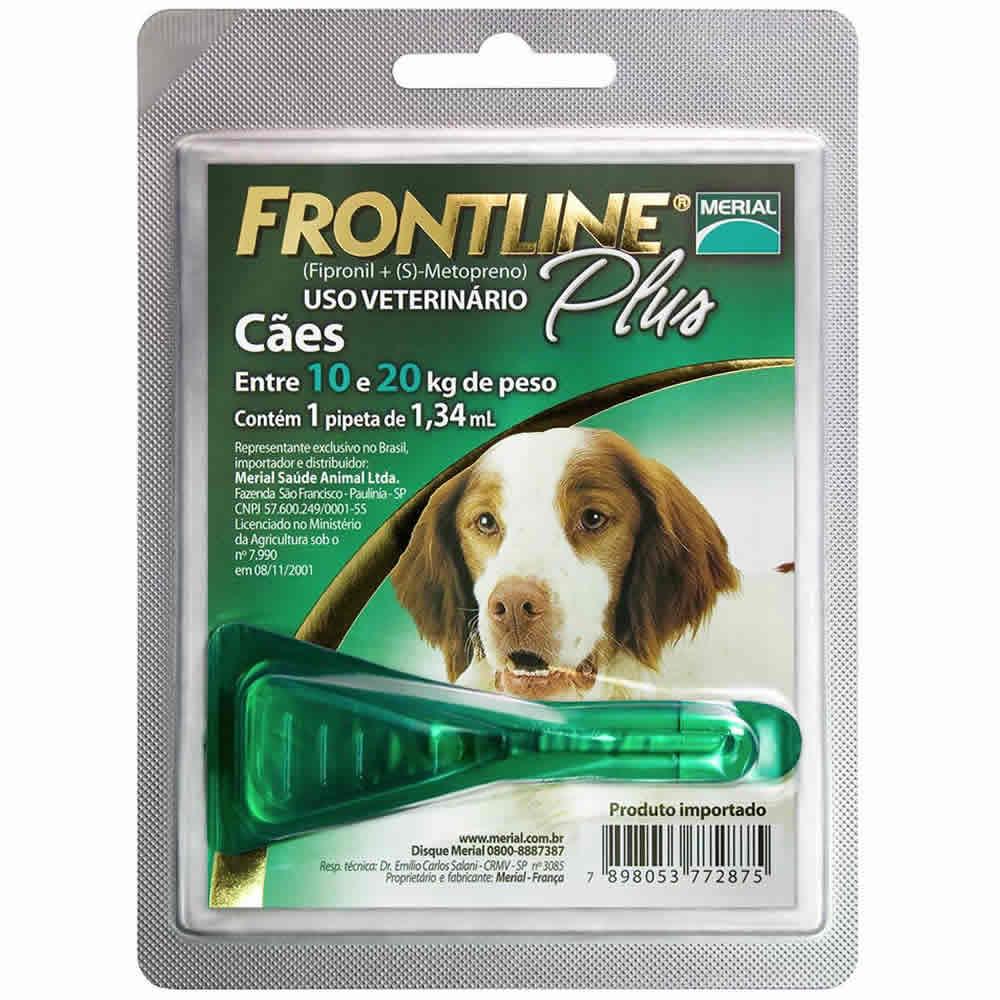 Frontline Plus 10 a 20Kg  - Brasília Pet