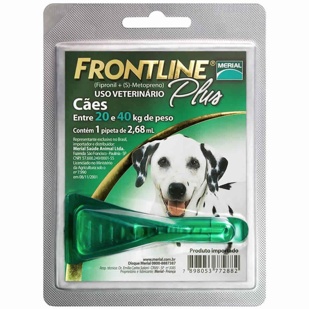 Frontline Plus 20 a 40Kg  - Brasília Pet