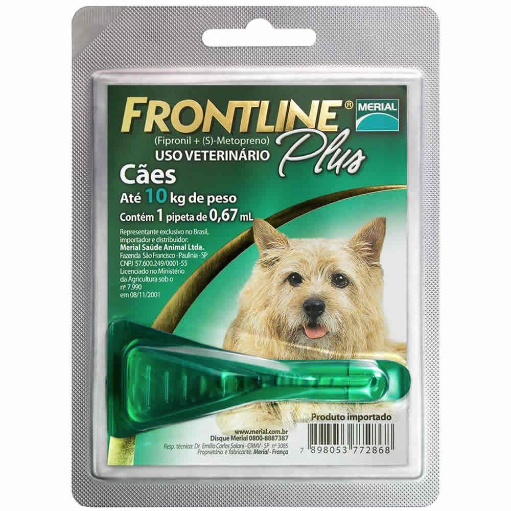 Frontline Plus Até 10Kg  - Brasília Pet