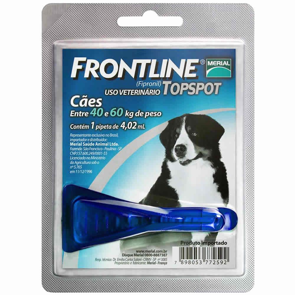 Frontline Top Spot 40 a 60Kg  - Brasília Pet