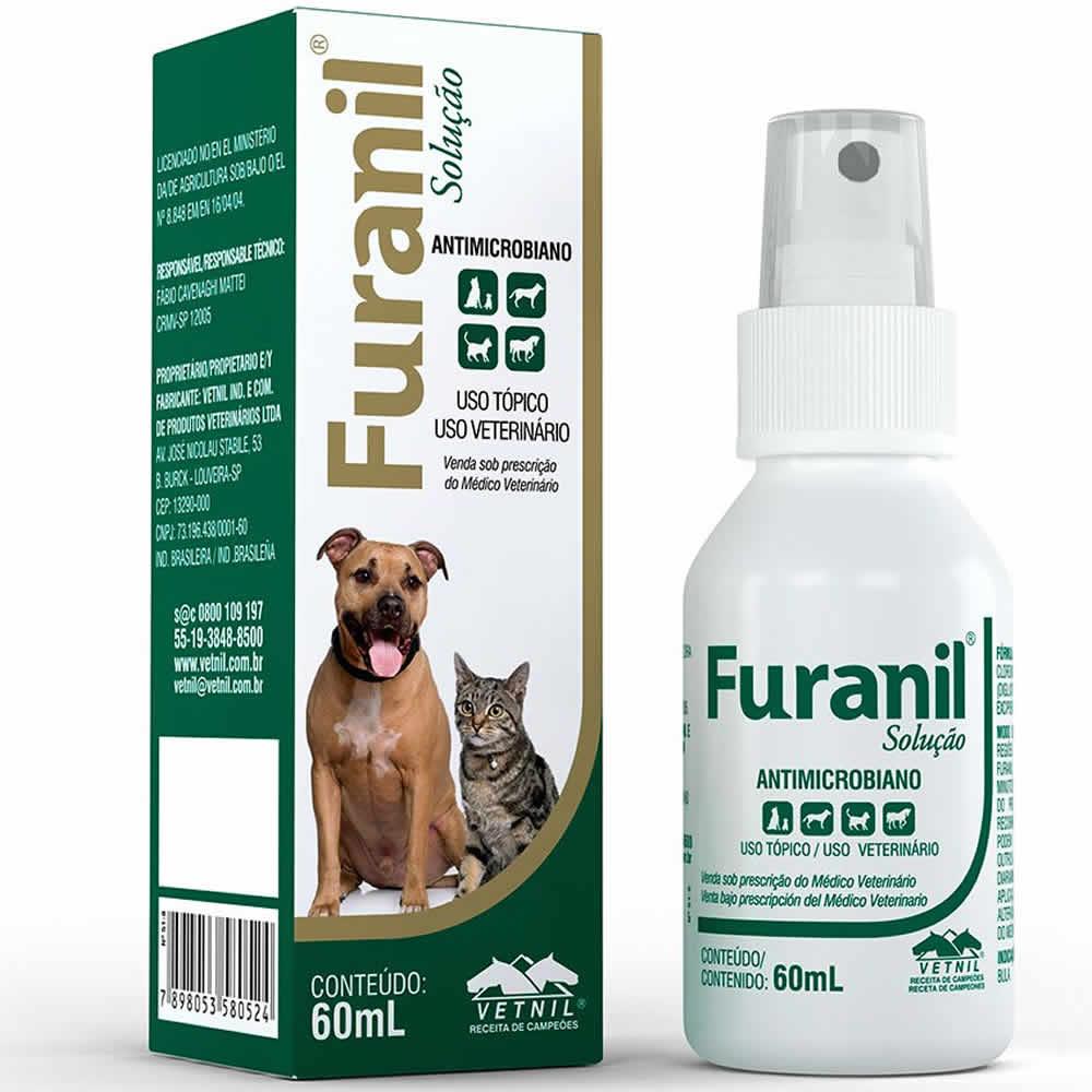 Furanil Spray 60ml  - Brasília Pet