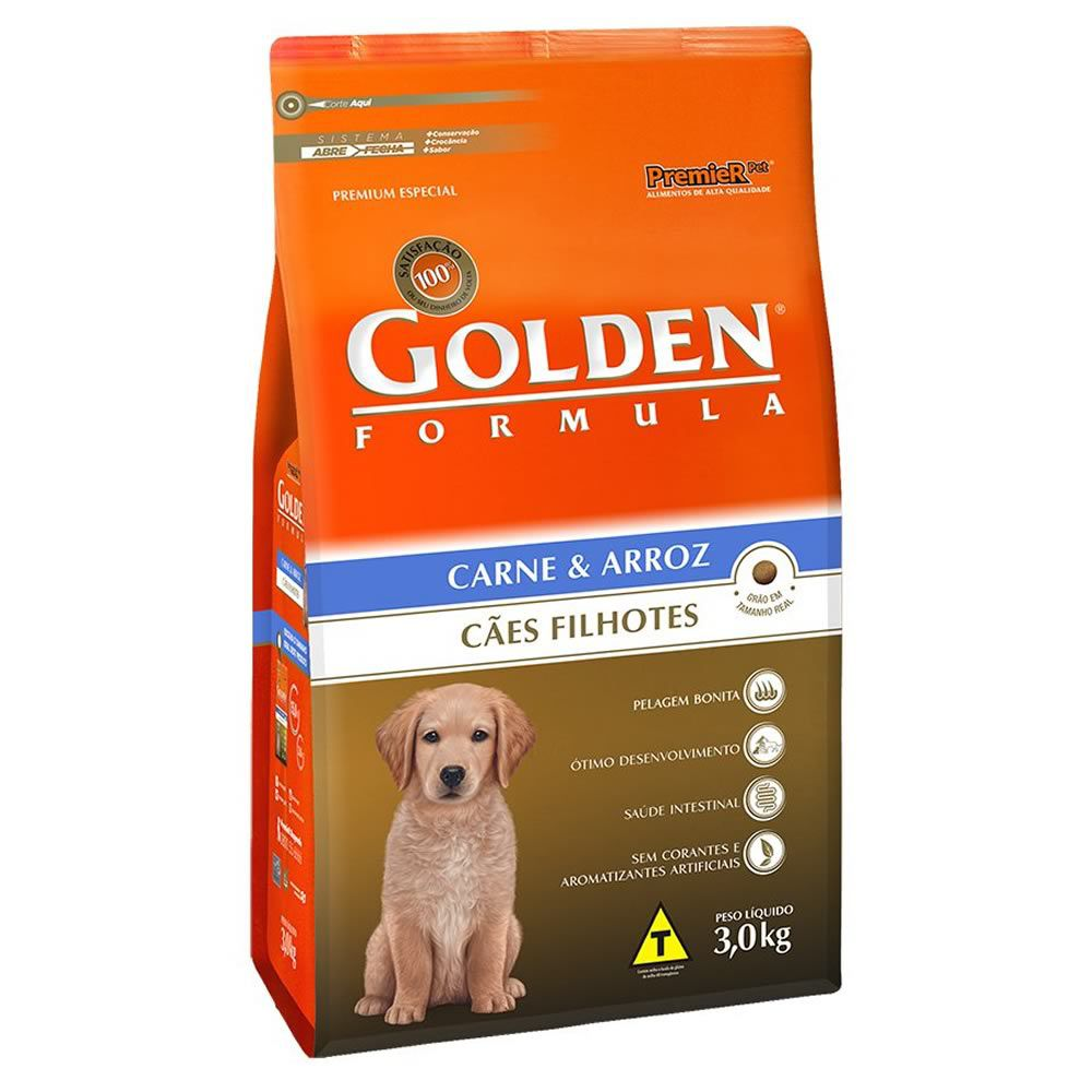 Golden Formula Filhotes Carne  - Brasília Pet