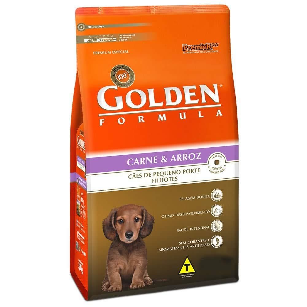 Golden Formula Filhotes Carne Raças Pequenas  - Brasília Pet