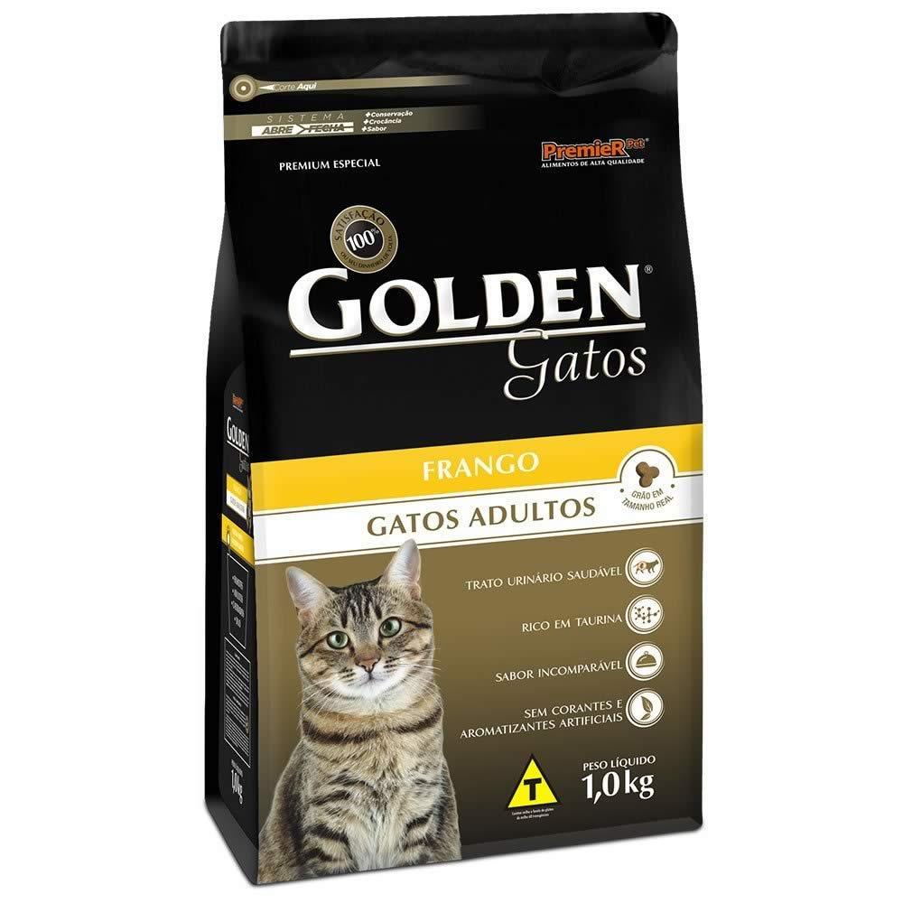 Golden Gatos Adultos Frango  - Brasília Pet