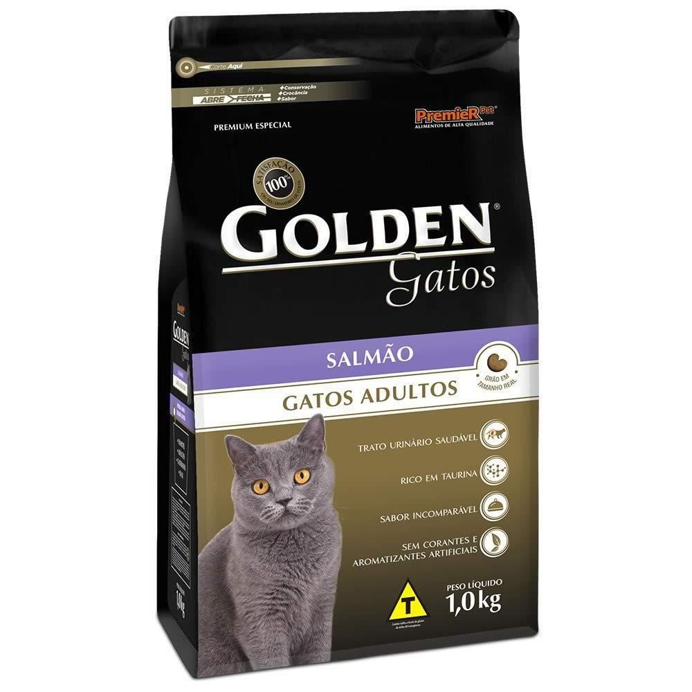 Golden Gatos Adultos Salmão  - Brasília Pet