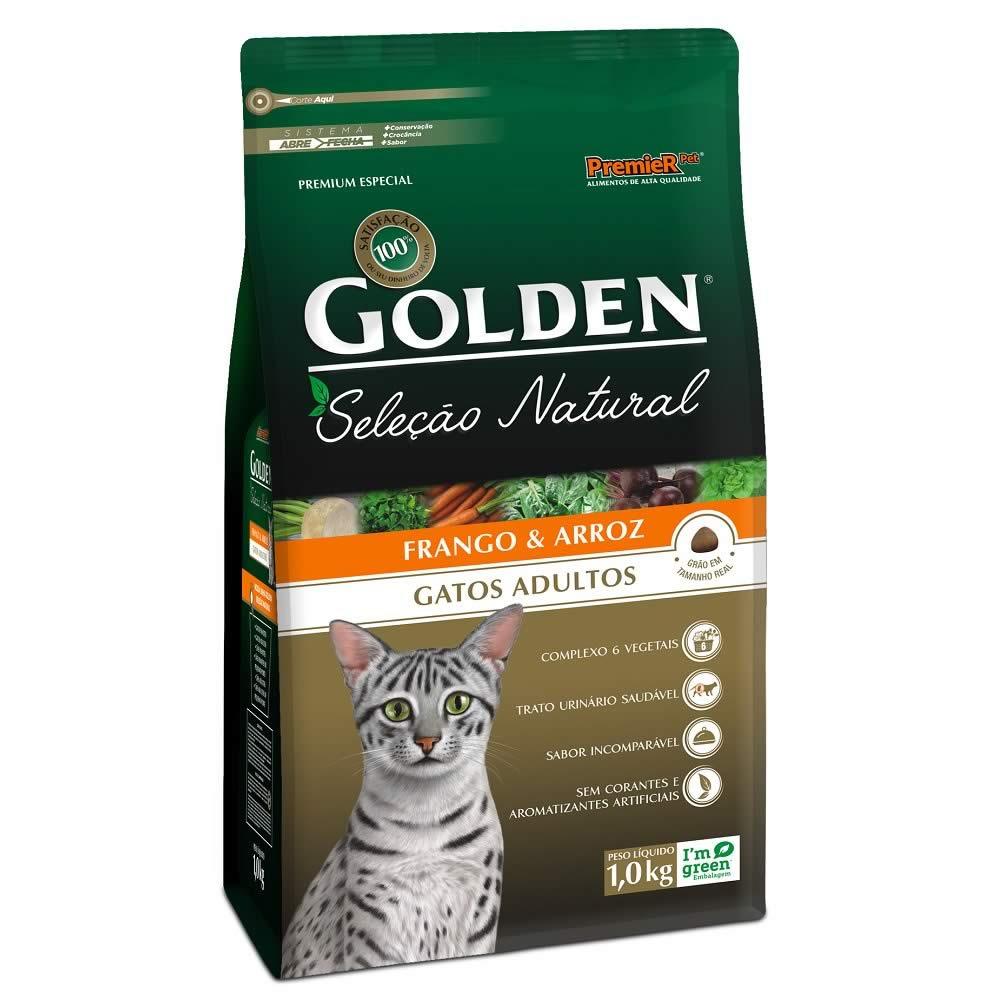 Golden Seleção Natural Gatos Adultos  - Brasília Pet