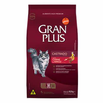 GranPlus Gatos Castrados Carne e Arroz  - Brasília Pet
