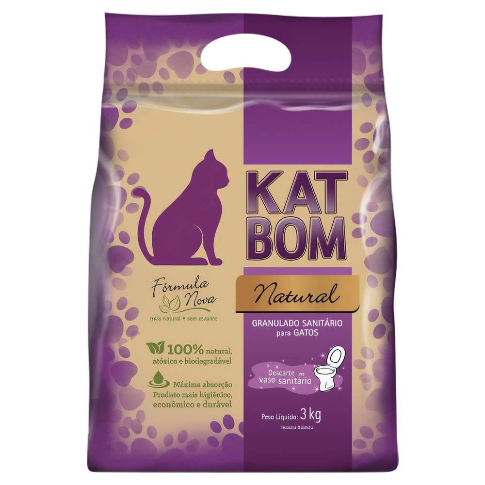 Granulado Sanitário Katbom 3kg  - Brasília Pet