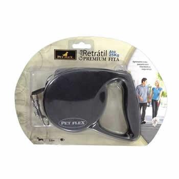 Guia Retrátil Premium Pet Flex 3m 25kg  - Brasília Pet