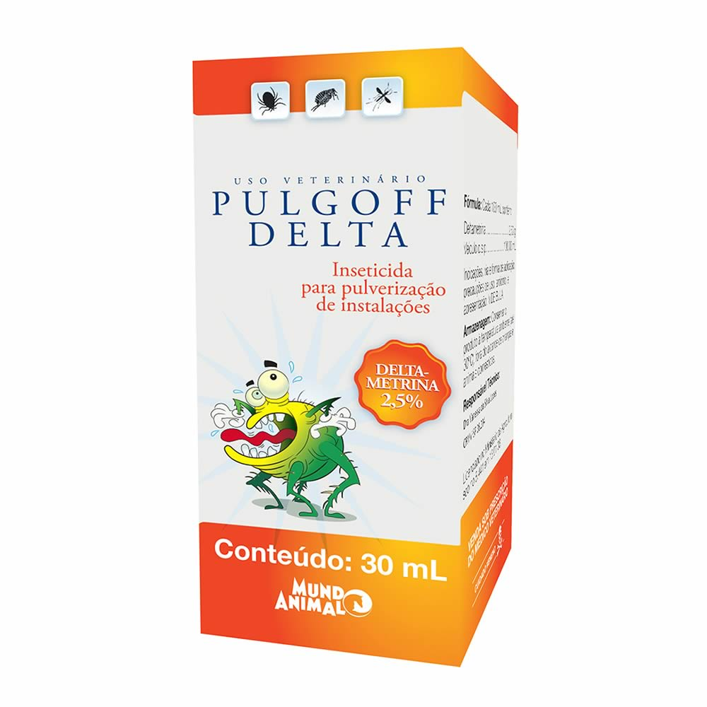 Inseticida Antipulgas e Carrapatos Pulgoff Delta 30ml  - Brasília Pet