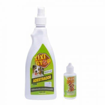 Kit Educador Xixi Stop 500 ml + Xixi Aqui Pet Clean  30ml  - Brasília Pet