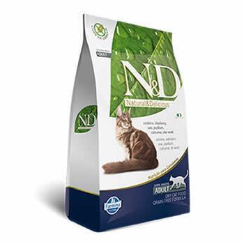 N&D Feline Adult Cordeiro e Blueberry Livre de Cereais  - Brasília Pet